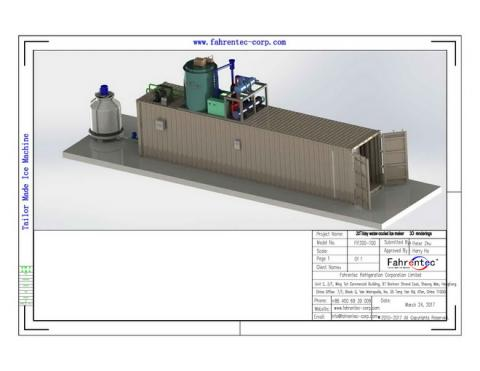 Fahrentec containerized turn-key ice production plant