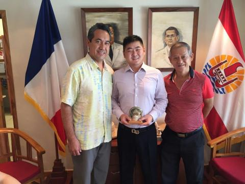 GM of Fahrentec meets the speaker of the Assembly of French Polynesia